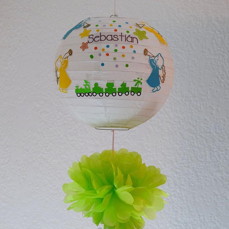 """Lámpara China decorada """"Angelitos"""""""
