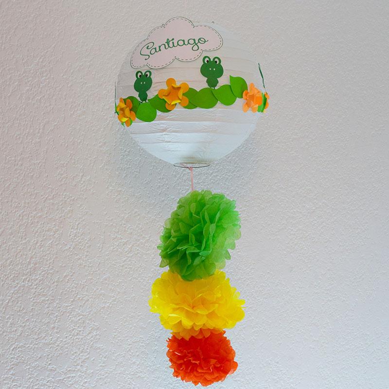 """Lámpara China decorada """"Ranitas"""""""