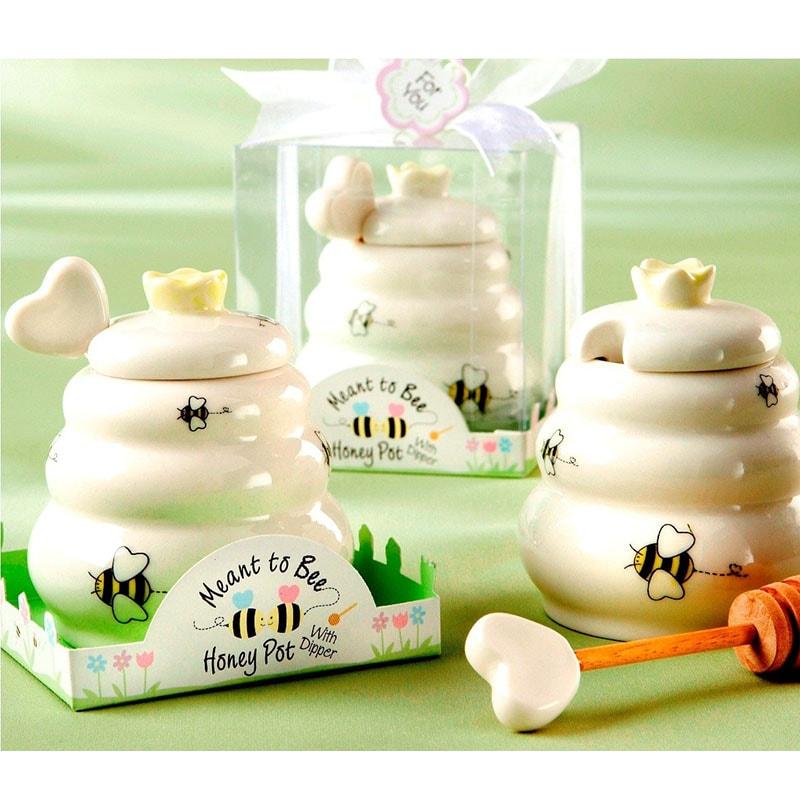 """Tarro de miel de cerámica """"Meant to bee"""""""