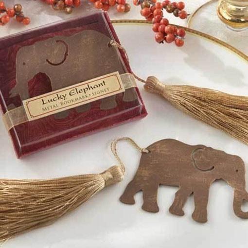 """Separador de libros """"Lucky Elephant""""."""