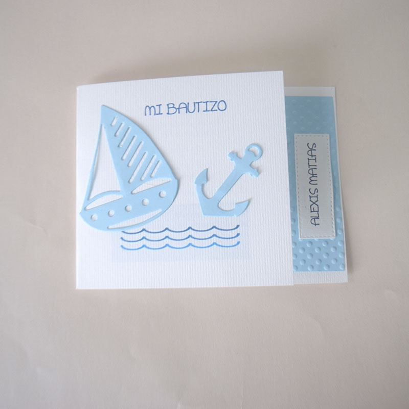 Invitación para Bautizo niño Velerito