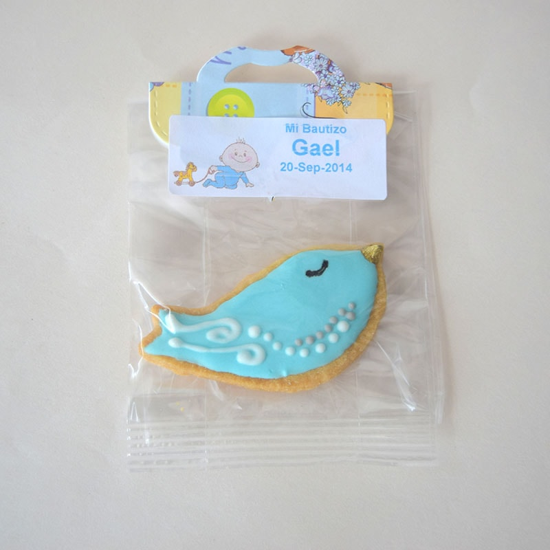 "Galleta decorada ""Pajarito blue"""
