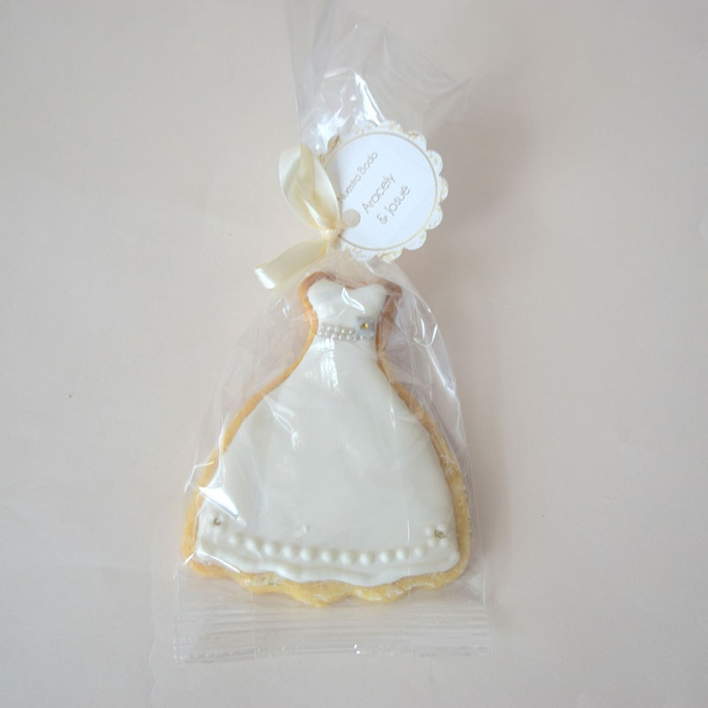 "Galleta decorada ""Vestido de Novia"""