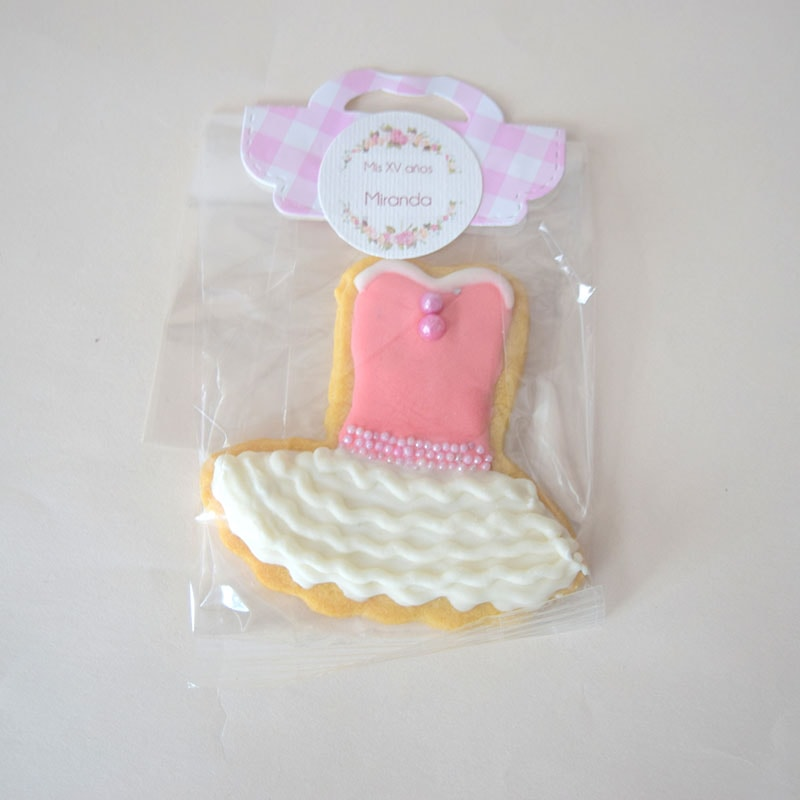 "Galleta decorada ""Vestido de Princesa"""