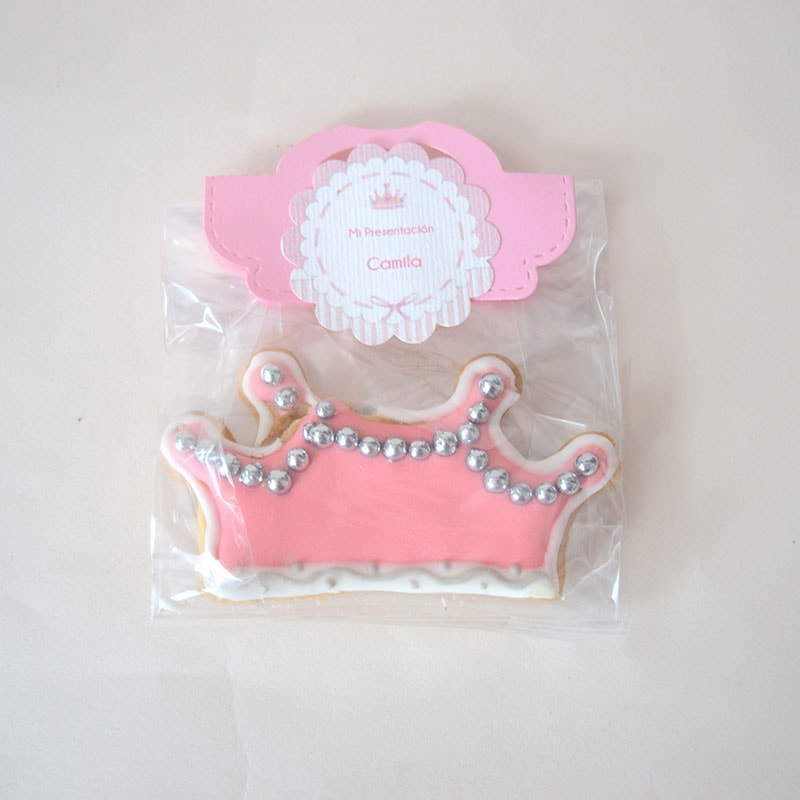 "Galleta decorada ""Corona Princess"""