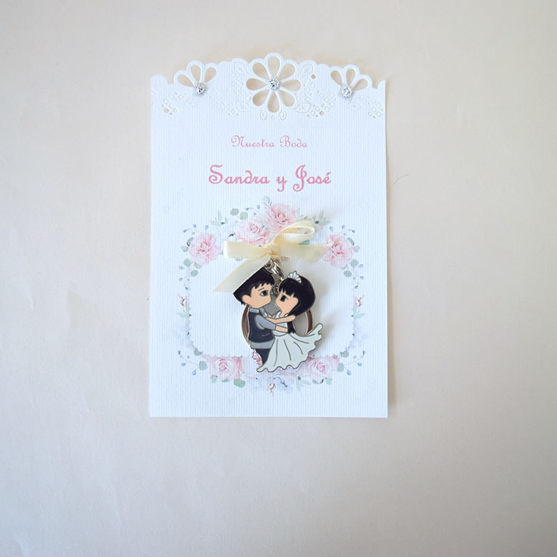 Llavero de boda amor eterno