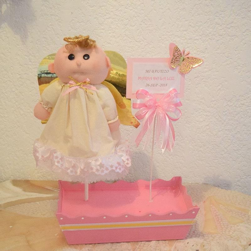 "Centro de mesa ""angelito rosa 2"""