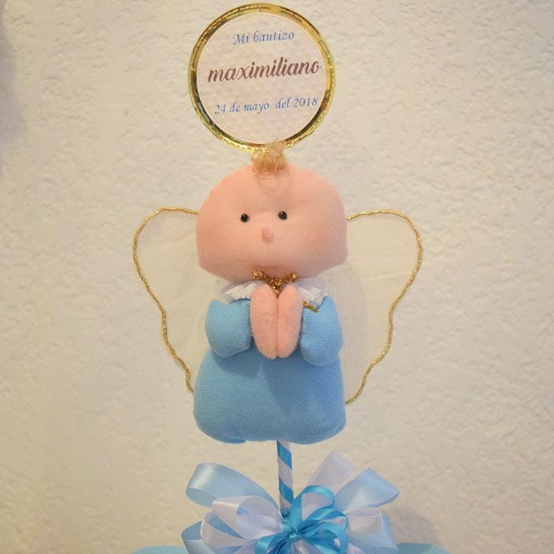 """Centro de Mesa """"angelito azul"""""""