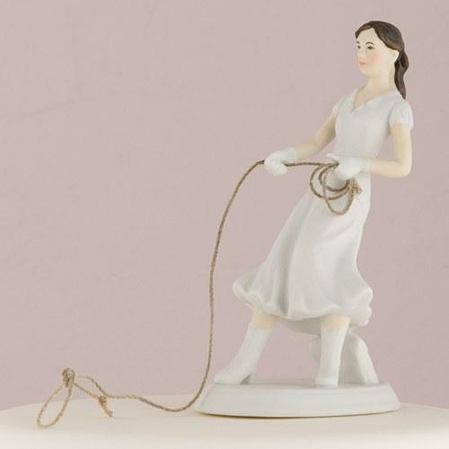 Figura de pastel Enlazando al novio.