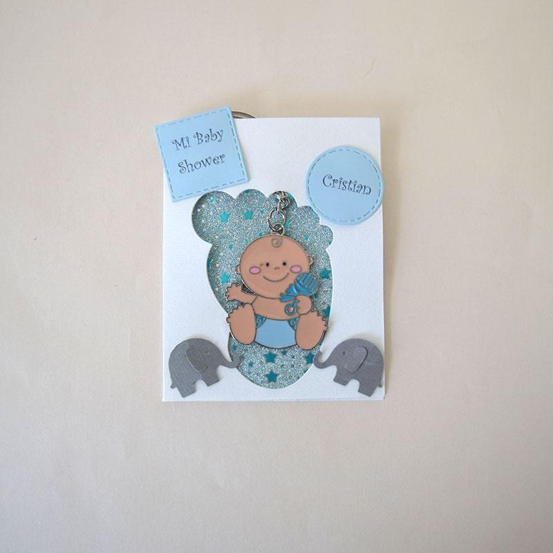 Llaverito de bebe con tarjeta piecito
