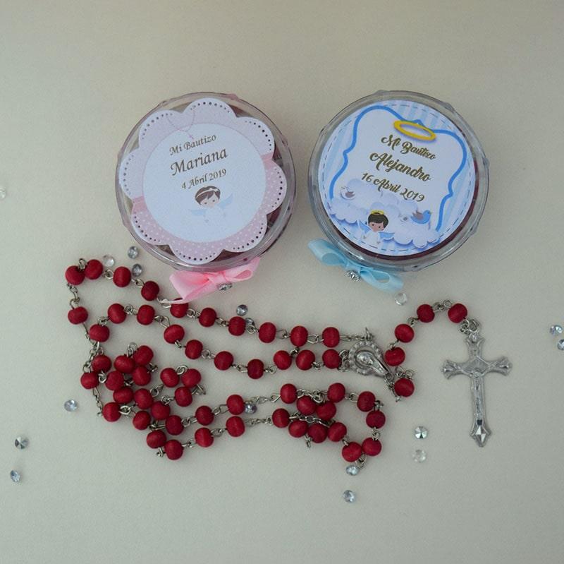 Rosario aromático de palo de rosa