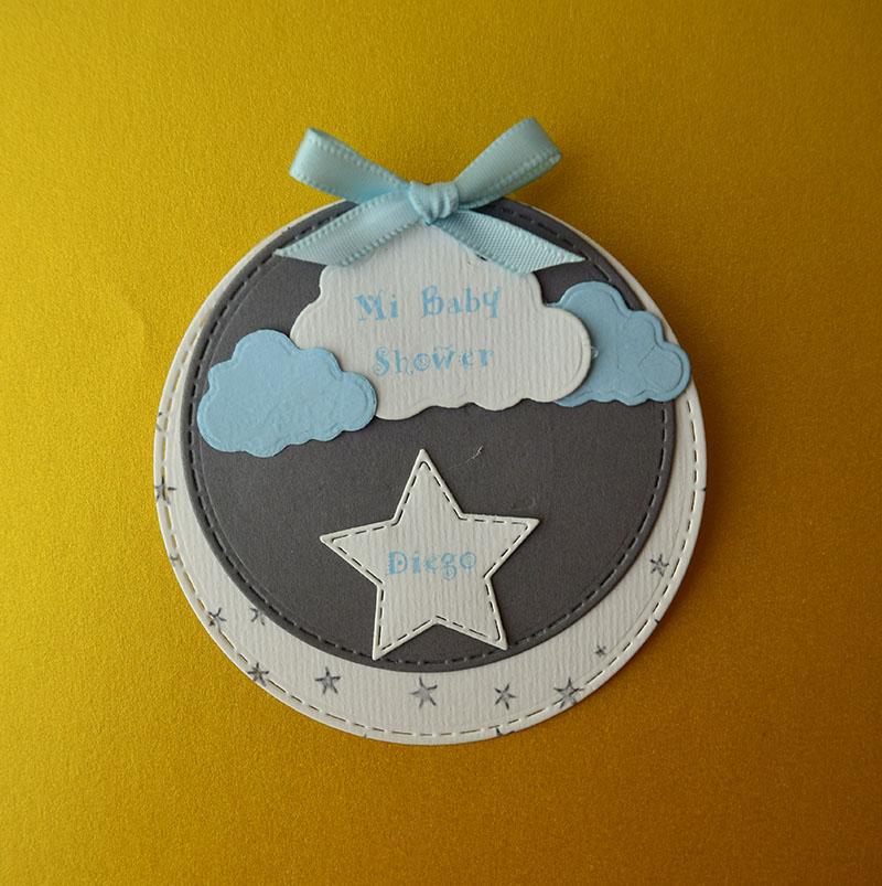 Paquete de 20 identificadores de estrellas en las nubes para Baby Shower