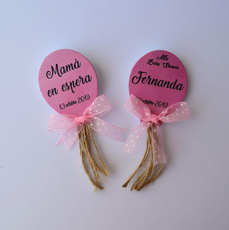 Paquete de 20 identificadores de globos rosas vintage para Baby Shower