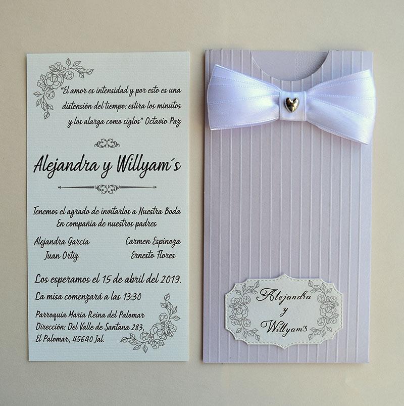 Invitación de boda Lila, se aceptan pedidos desde 25 piezas