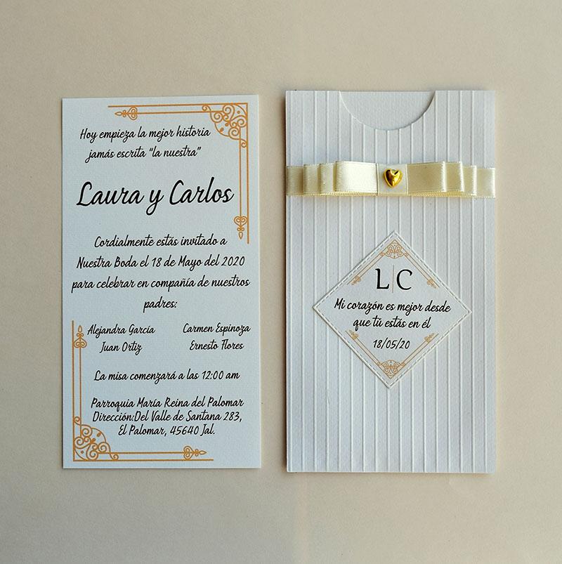 Invitación para boda Alejandra (pedidos desde 25 piezas)