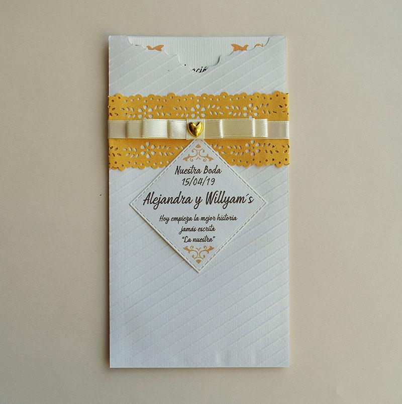 Invitación para boda Diana (pedidos desde 25 piezas)