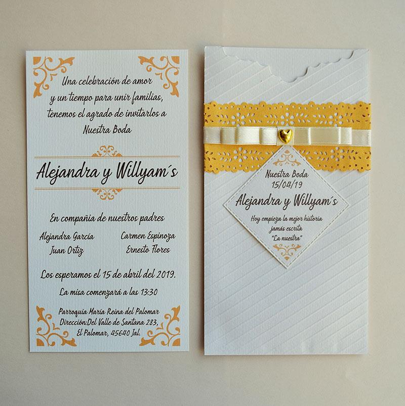 Invitación para boda Diana, se aceptan pedidos desde 25 piezas