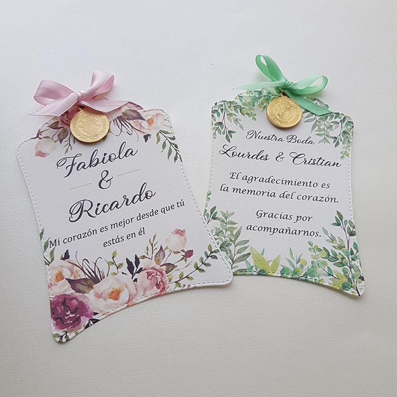 Detalle para invitados, bodas, medallas San Benito