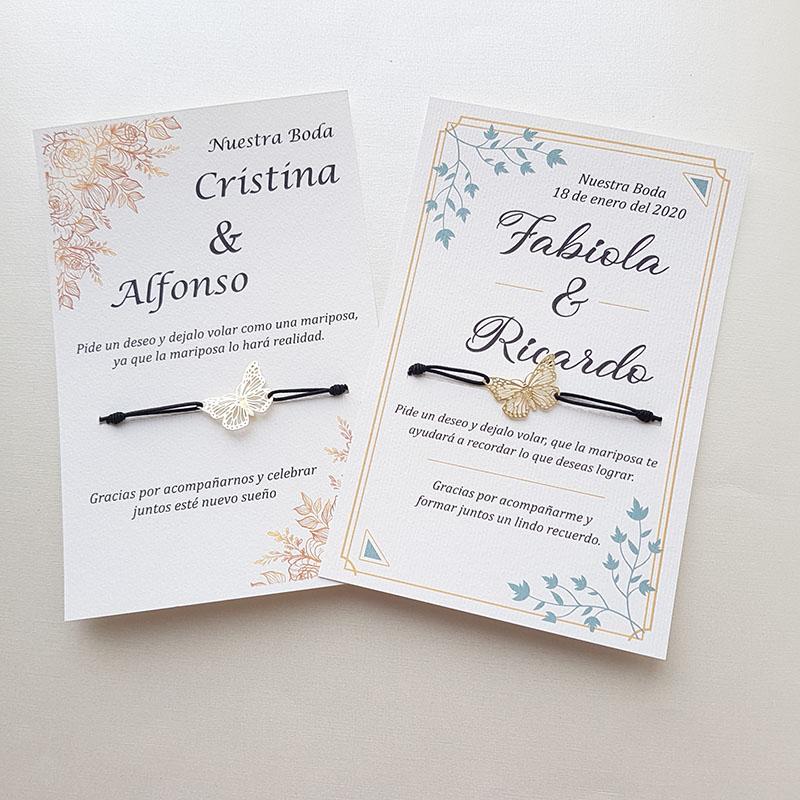 """Pulsera Mariposa mágica """"pide un deseo"""" para boda"""