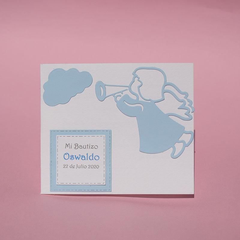 Invitación para Bautizo y Baby Shower Celestial