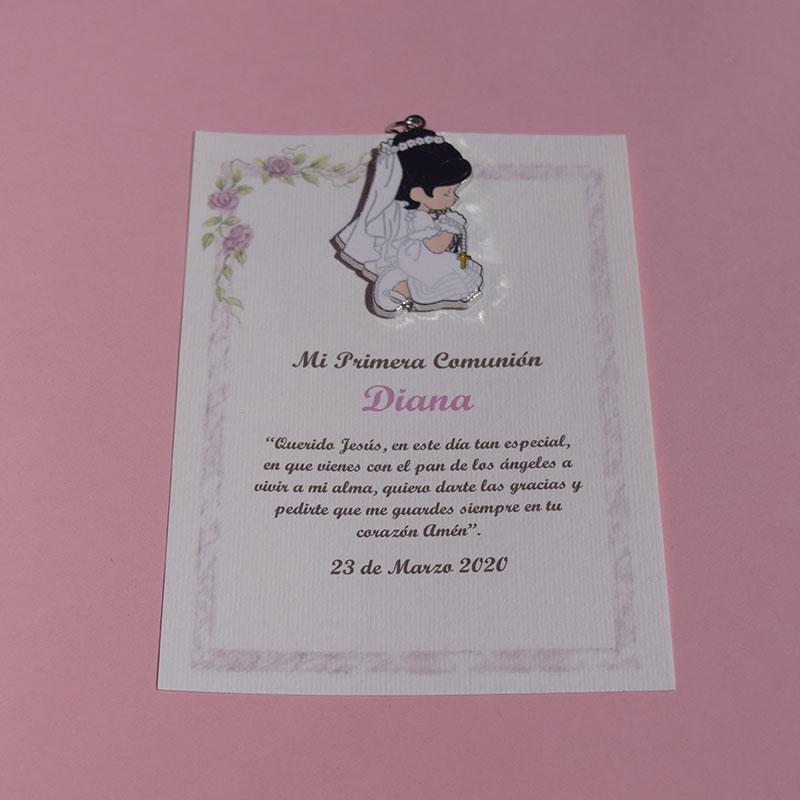 Llavero personalizado de Primera Comunión Diana