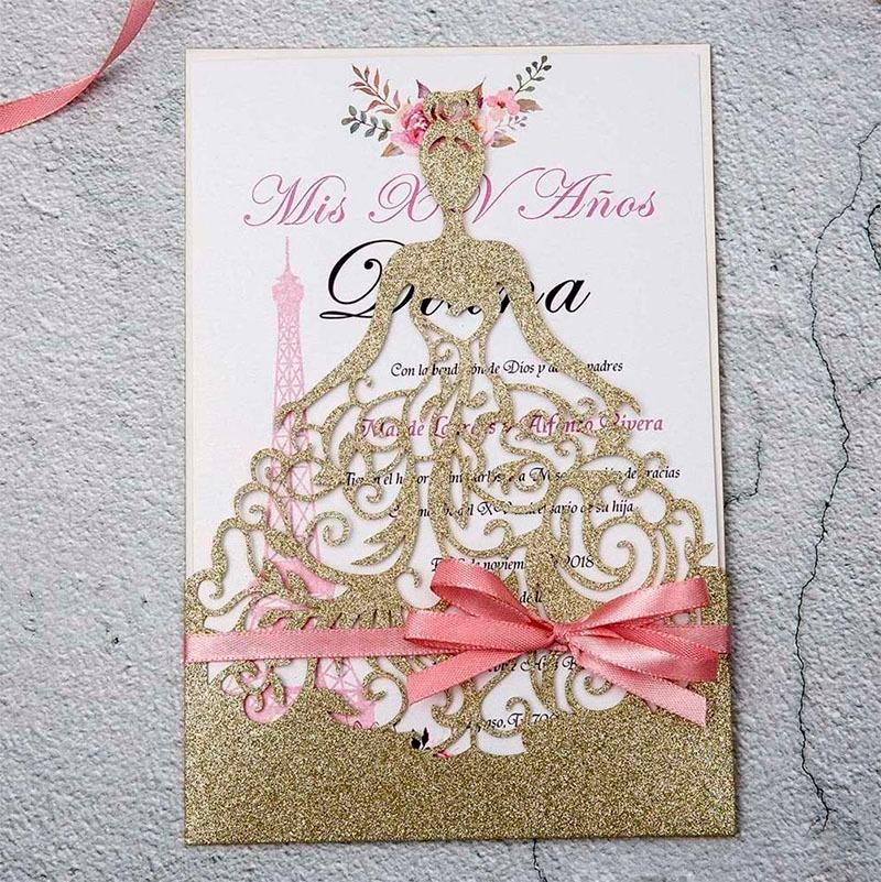 Invitación para 15 años Mayte Quinceañera