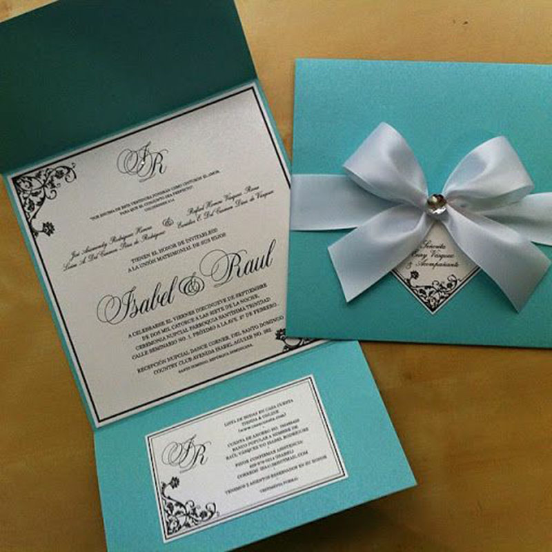 Invitación para XV años Tiffany (pedidos desde 25 piezas)