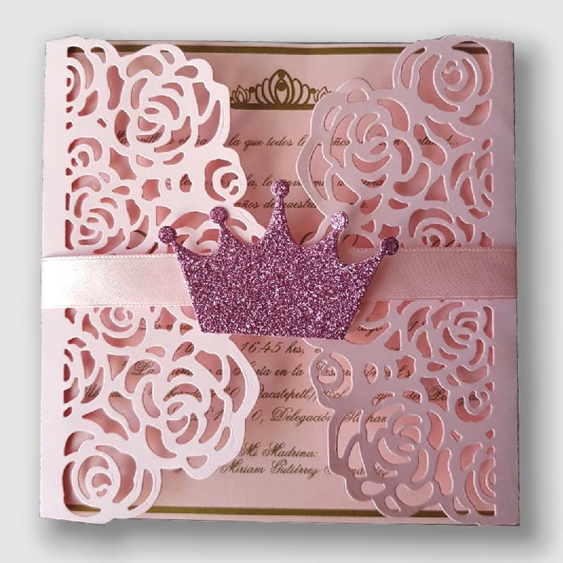 Invitación Princesa Nathalia para 15 años