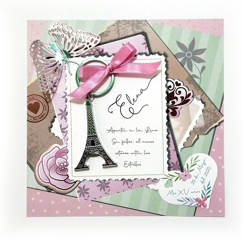 llavero de la torre Eiffel para 15 años