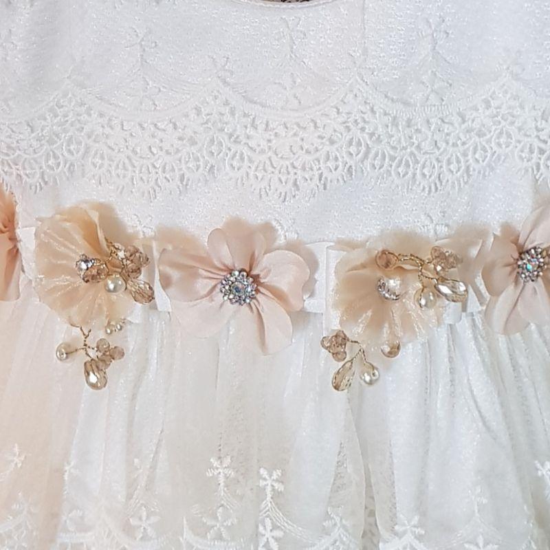 Ropón floral de Bautizo Valeria desmontable