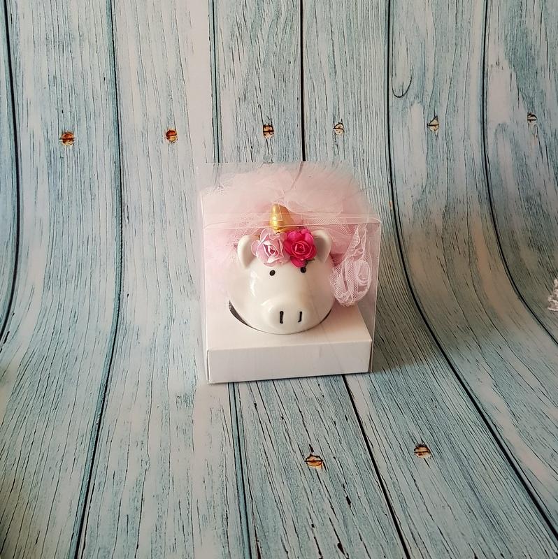 Alcancía Puerquita unicornio Bailarina para recuerdo de niña