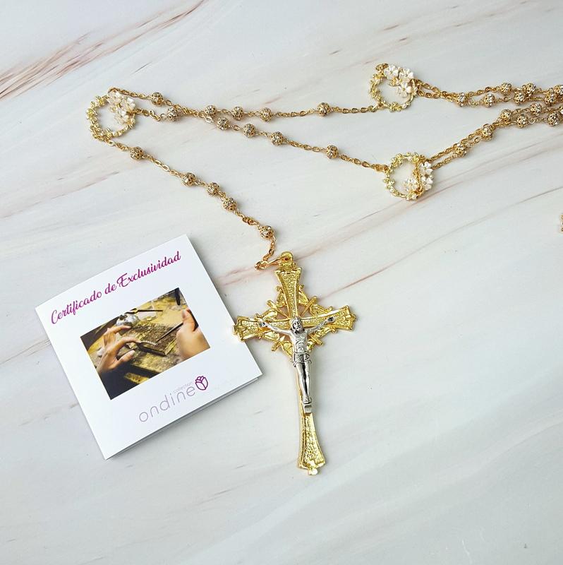 Lazo para boda de oro, Forever, cruz italiana