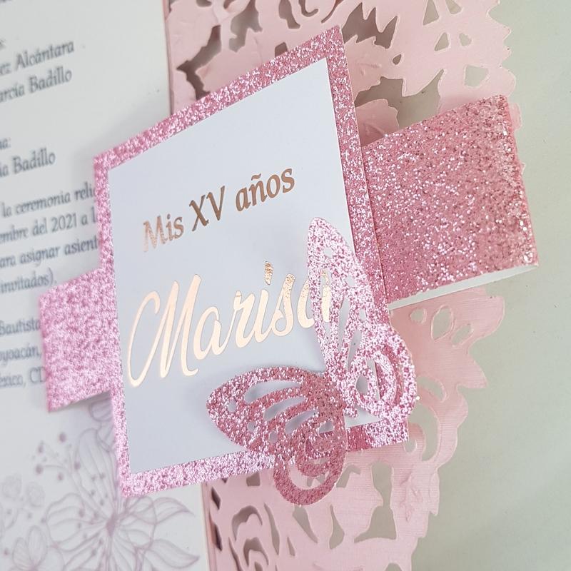 Invitación con foil modelo Marisa