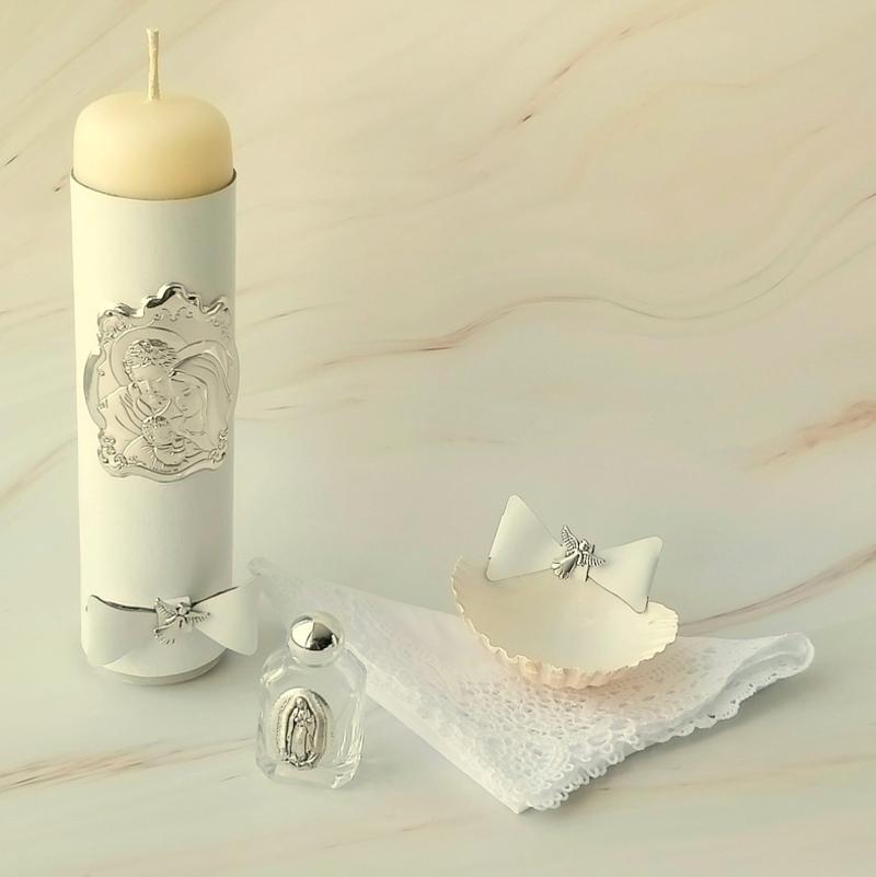 Kit de bautizo Amore placa de plata laminada .925 italiana